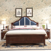 1.5m leather headboard American style wooden double bed compared with race car bed