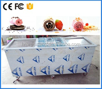 Thailand fried roll ice cream machine with panasonic compressor