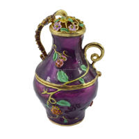 Yiwu best selling chinese trinket antique enamel metal teapots jewelry trinket box(QF784)