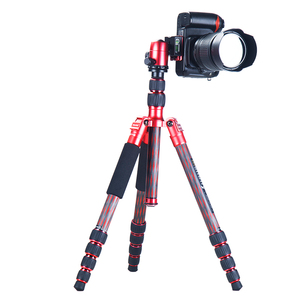 Manbily Telescopic tube product flexible portable Camera Professional Carbon fiber handle monopod Tripod cz-306