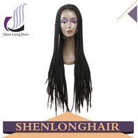 Cheap Lace Front Wig With Baby Hair Synthetic Wig African Braided Wig