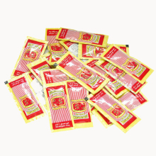 Different kinds of tomato ketchup sachet 10g packaging type