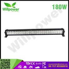 "12V 24V IP68 Waterproof 38"" 180w Super Slim Single Row heavy machinery Led Light Bar for vehicle 4x4 led"