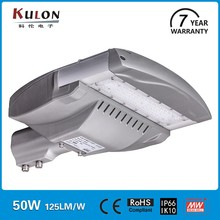 Die-casting aluminum housing ip66 outdoor 50w led street light