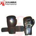 Dual strap closure system cowhide leather boxing gloves
