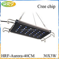 lamparas led para acuarios ,3w chip Tensile aluminum waterproof led aquarium light