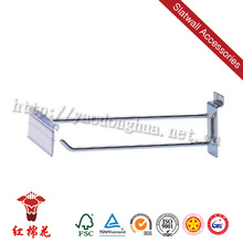 Metal slatwall scanning hook / flip scan hook / pegboard scan hook for supermarket display