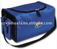 polyester shoulder top opening cooler with side pocket