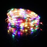 20M 200LED Copper Wire LED Light Garland DC12V Outdoor LED String Lights Christmas Wedding Party Decorative Lights Red or Yellow