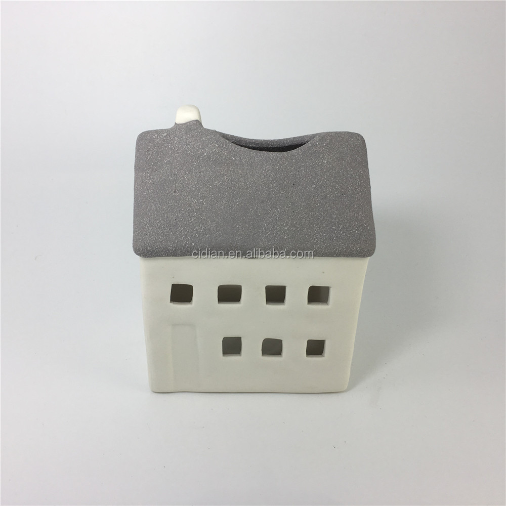 Ceramic Christmas village House candle holder