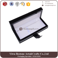 luxurious black pu leather presentation boxes
