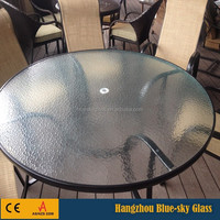 BL 5mm 6mm 8mm thick toughened patterned glass for outdoor table tops