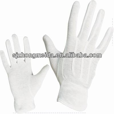 Formal White 100% Cotton Parade Gloves with Swickle Decorative Back
