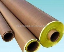 High temperature resistance PTFE glass fabric with silicone adhesive with yellow release paper
