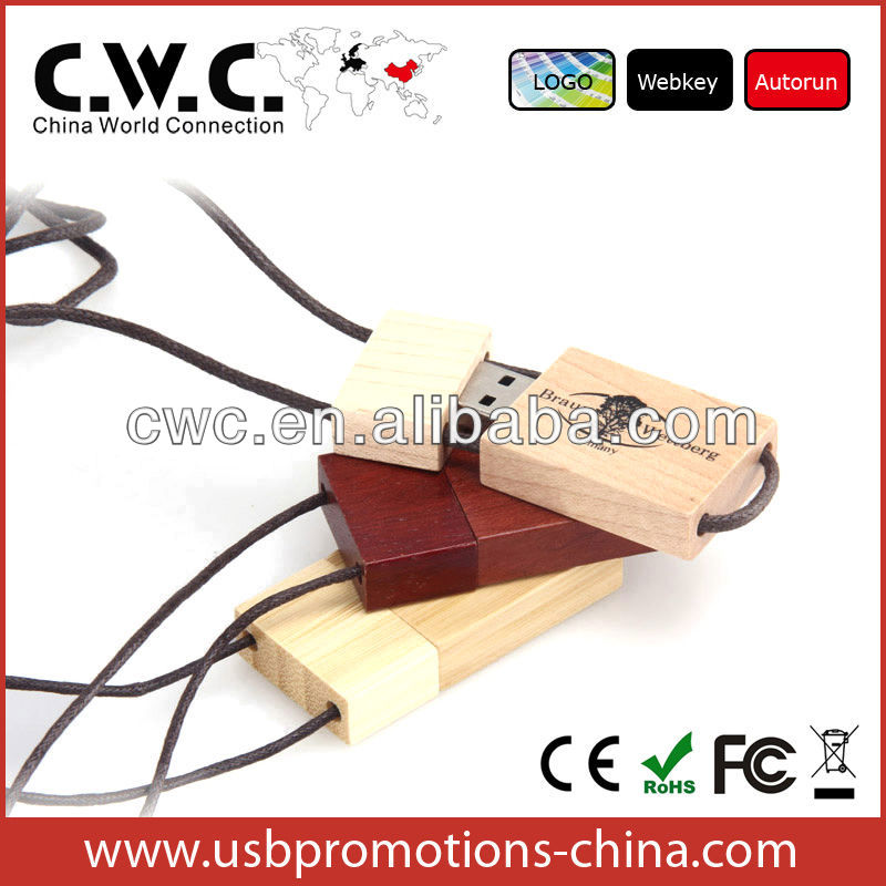 Natural Wooden Chinese Style Usb Flash Drive