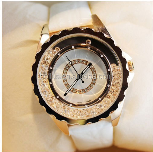FIVE CIRCLE & big dial girls waterproof watches BLL20140137 CZ diamond