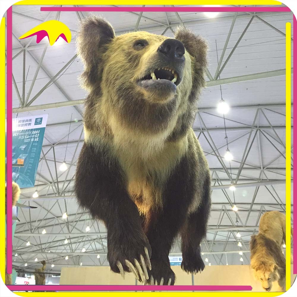 KANO3439 Museum Exhibition Lifesize Simulation Life Sized Plastic Animal Bears