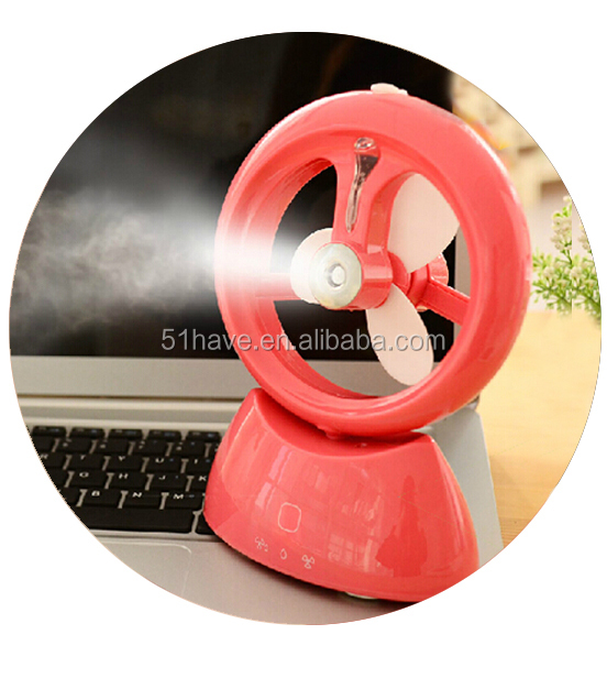 USB rechargeable portable water misting fan type mini water spray cooling fan