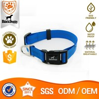 Nylon Personalised Dog Collar With Name Plate OEM Service