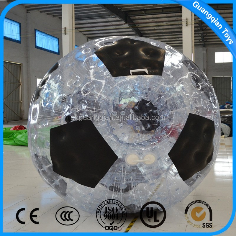 Guangqian Popular Human Size Hamster Inflatable Water Roller Bumper Ball For Sale