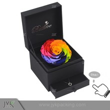 Custom black flower box packaging decorative boxes