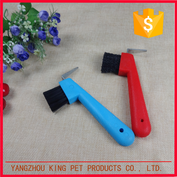 Pet grooming products small plastic horse brush for foot clean