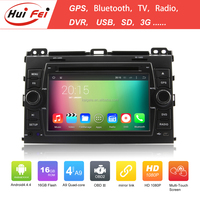 Capacitive Touch Screen 2 Din Car DVD Player For Toyota Land Cruiser Prado Quad-core Android 4.4