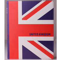 for Apple ipad 2/3/4 new flags design PU leather flip case stand case