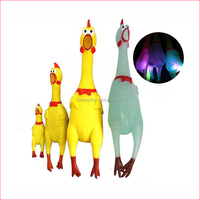 2017 Shrilling Screaming Rubber Squeaky Chicken Dog Chew Toy for Cat Dog Resistance Bite