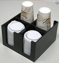 cheap black acrylic coffee paper cup dispenser holder manufacturer wholesale