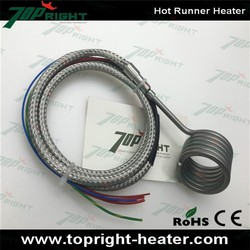 Mould spring hot runner coil heater with thermocouple