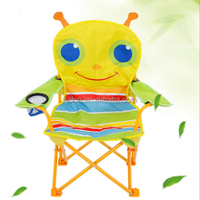 outdoor camping folding powder coated steel frame kids cartoon study table and chair