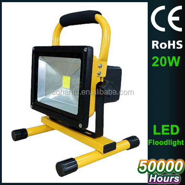 CE ROHS lis4500K Epistar chip 20W yellow green red blue black portable light led flood fixture