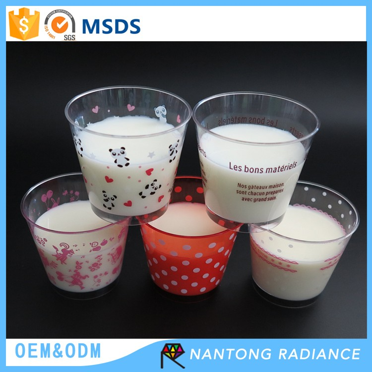 210 ML Milk Cup Yoghourt Cup Plastic Dessert Cup