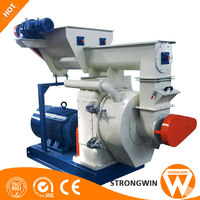 Compact structure CE approved biomass wood pellet making machine for sale
