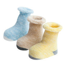 Hot selling cheap many designs cartoon anti-slip cotton winter warm socks for baby
