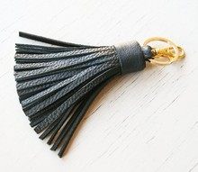 promotional key chain wholesale leather tassels for handbag