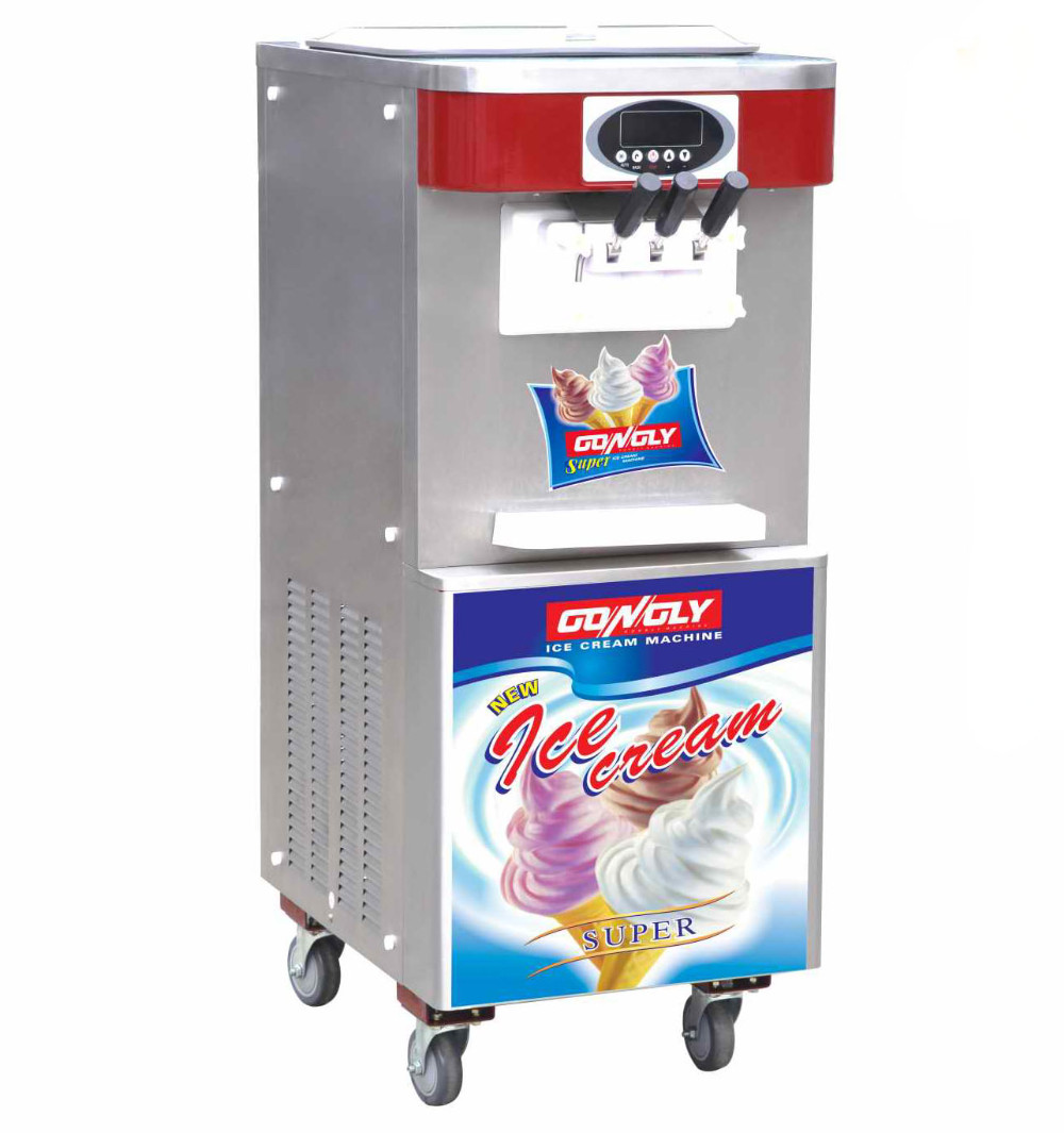 High production Quick frozen 3 flavors ice cream mixer machine for food and beverage service