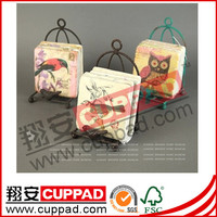 ECO-friendly decorative soapstone tea coaster with shrink package