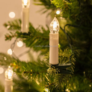 20 warm white indoor fairy lights led christmas candle with tree clips - Led Christmas Candles