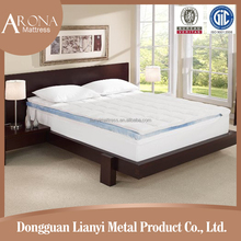 2015 new king size roll up hatd High density cooling gel mattress topper