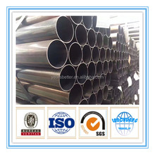 China material Black Surface Treatment ERW steel pipe Black iron 1.5 schedule 40 mild steel round pipe price
