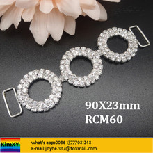 3.5inch rhinestone connector Bikini Connectors Crystal connectors ALRCM60