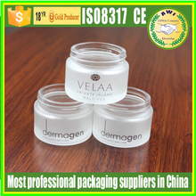 100ml 200ml bath salt containers wholesale glass body lotion jars with aluminum lids