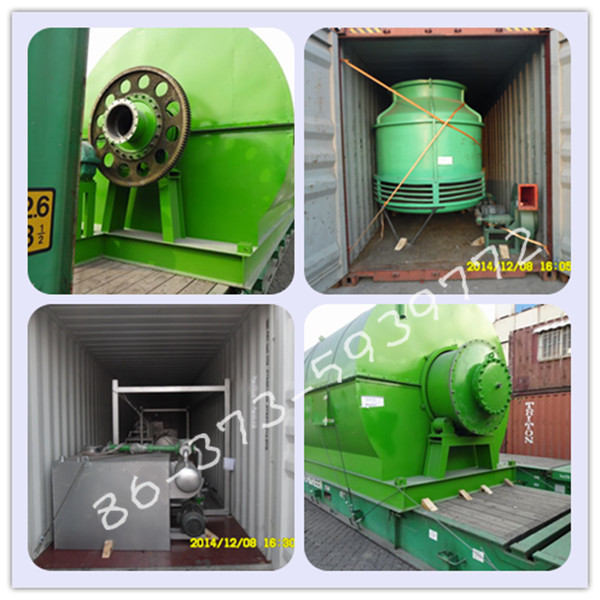 2016 perfect model scrap rubber to crude oil recycling machine