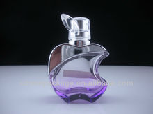 50ml apple shaped colored glass perfume bottle