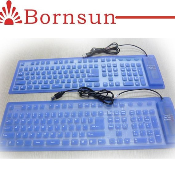 Wholesale price silicone wireless bluetooth keyboard for gift
