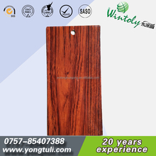 Wood grain transfer spray polyester resin powder coating for aluminium doors