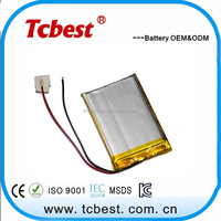Shenzhen tablet PC 3.7v 1200mah rechargeable lithium battery
