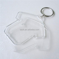 T-shirt shape mini stylish acrylic keychain with iron ring